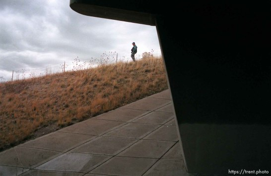 Man watches the Governor's Centennial Train