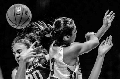 Trent Nelson | The Salt Lake Tribune Utah Utes forward Malia Nawahine (3) knocks the ball away from Washington State Cougars center Maria Kostourkova (20) in the fourth quarter as the University of Utah hosts Washington State, NCAA women's basketball at the Huntsman Center, Saturday January 2, 2016.