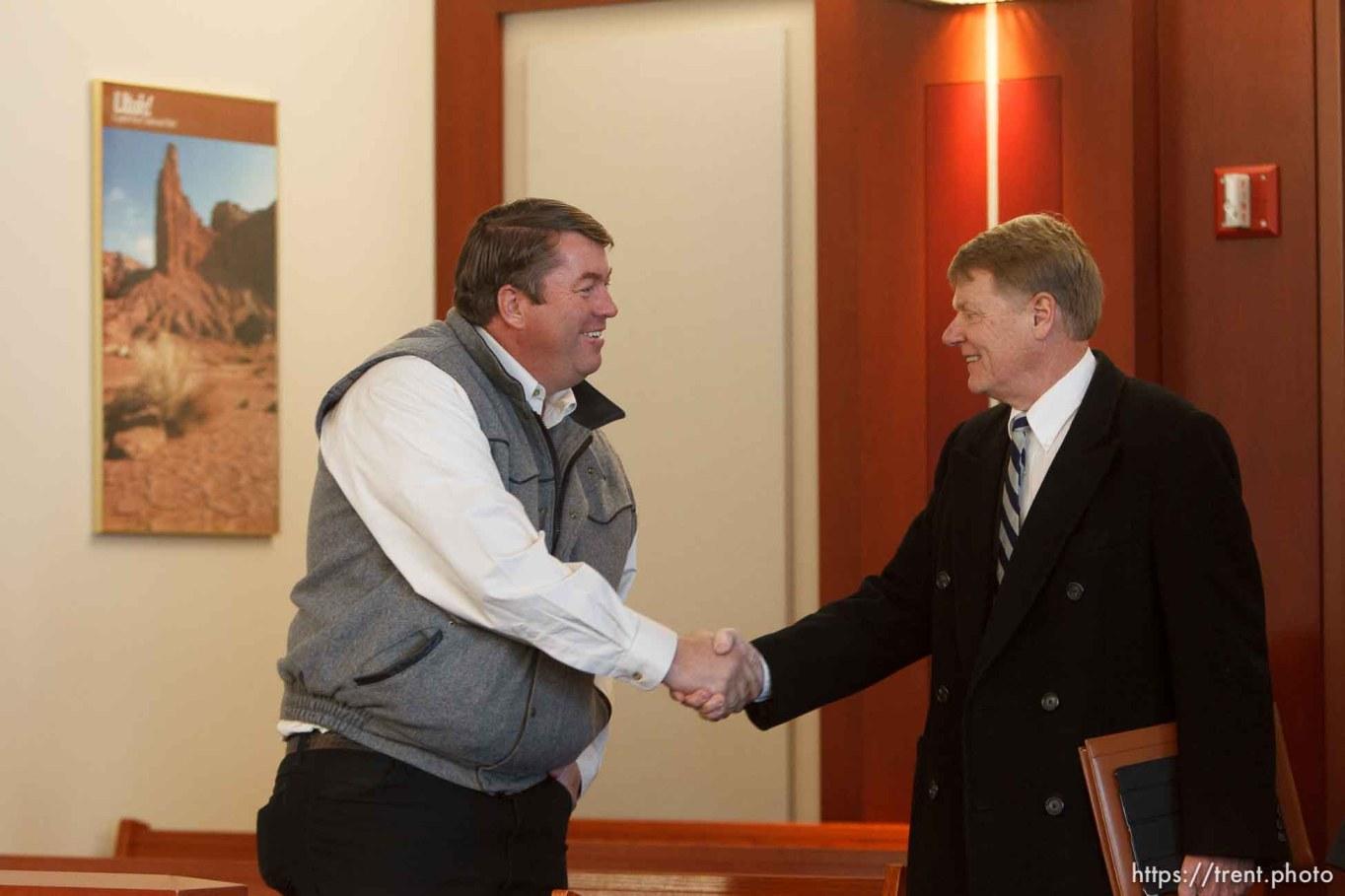 Trent Nelson | The Salt Lake Tribune Willie Jessop, Rod Parker, at a court hearing concerning Utah's management of the United Effort Plan Friday, February 15, 2013 in Salt Lake City.