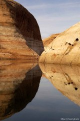 Reflections. Low water level at Lake Powell.; 02.19.2003, 11:58:41 AM