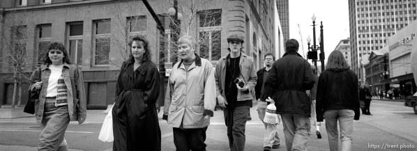 People in crosswalk.