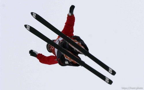 Joe Pack, silver medalist. Men's Aerials Final, Tuesday at Deer Valley, 2002 Olympic Winter Games. ; 02.19.2002, 12:31:31 PM