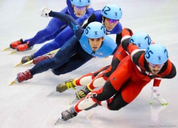Short Track Skating, at the XXI Olympic Winter Games in Vancouver, Saturday, February 20, 2010.
