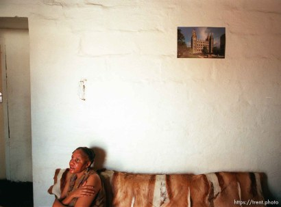Mildred Mvula in her home.