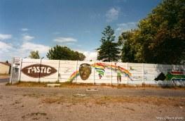 street scene. Olympic mural