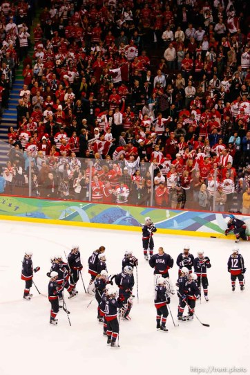 Trent Nelson | The Salt Lake Tribune Canada defeats Team USA in the gold medal game, women's Ice Hockey at the Canada Hockey Place, Vancouver, XXI Olympic Winter Games, Thursday, February 25, 2010.