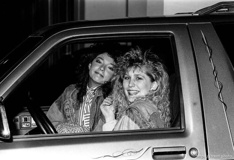 Girls in a truck, february 1988. p