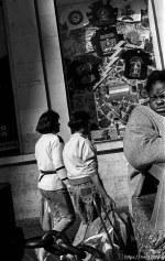 Woman. Leica hip shots on the street.