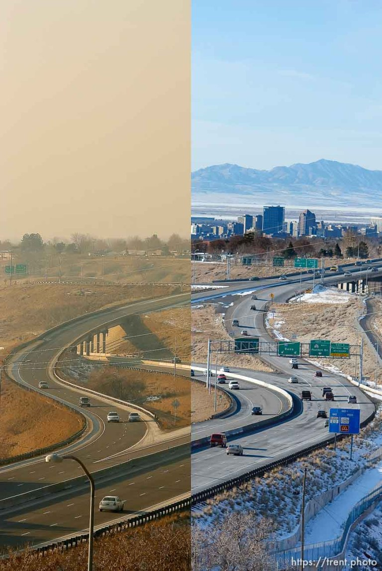 Inversion over Salt Lake City (with Chris Detrick) – before and after