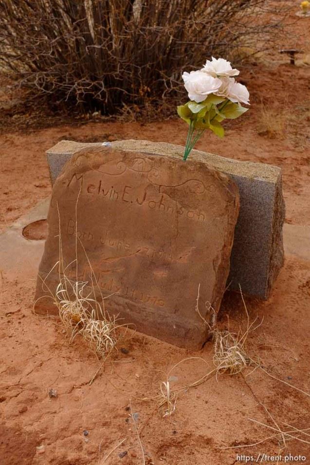 Melvin E. Johnson, 1914-1970. Isaac W. Carling Memorial Park, Colorado City, Friday March 16, 2018.