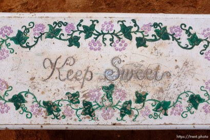 Keep Sweet. Isaac W. Carling Memorial Park, Colorado City, Friday March 16, 2018.