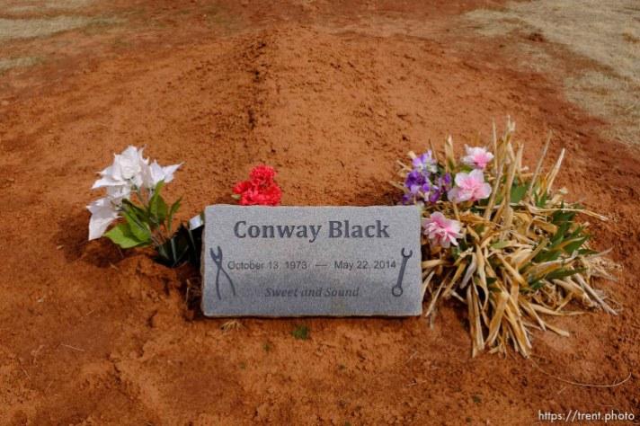 Conway Black, 1973-2014. Isaac W. Carling Memorial Park, Colorado City, Friday March 16, 2018.