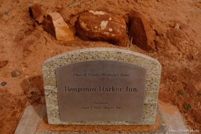 One of Uncle Warren's Sons, Benjamin Harker Jun., 2003-2010. Isaac W. Carling Memorial Park, Colorado City, Friday March 16, 2018.