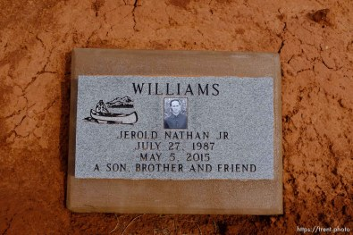 Jerold Nathan Williams, 1987-2015. A son, brother and friend. Isaac W. Carling Memorial Park, Colorado City, Friday March 16, 2018.