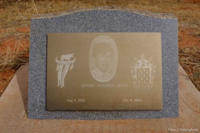 Daniel Pearson Jeffs, 1969-1984. Isaac W. Carling Memorial Park, Colorado City, Friday March 16, 2018.
