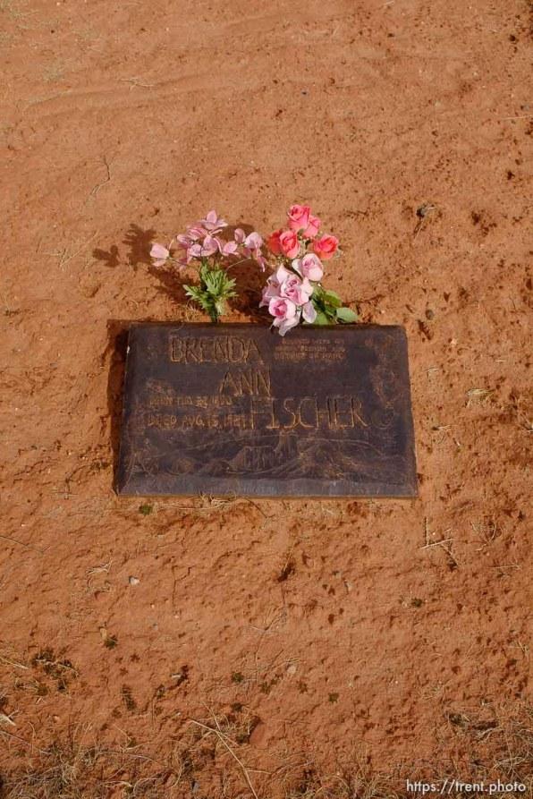 Brenda Ann Fischer, 1950-1987. Isaac W. Carling Memorial Park, Colorado City, Friday March 16, 2018.
