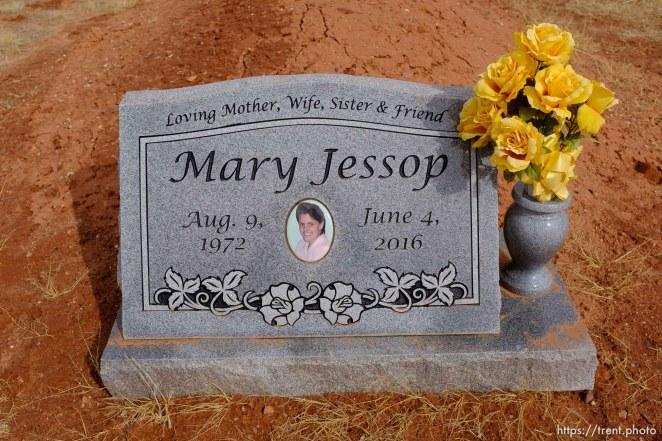 Mary Jessop, 1972-2016. Isaac W. Carling Memorial Park, Colorado City, Friday March 16, 2018.