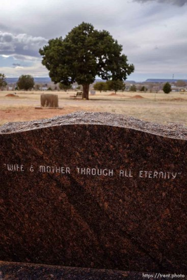 Ann L. Fischer 1940-1973. Wife and Mother Through All Eternity. Isaac W. Carling Memorial Park, Colorado City, Friday March 16, 2018.