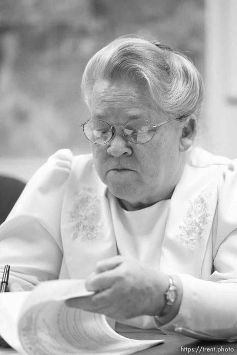 Karen Barlow. Colorado City council meeting