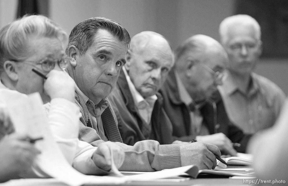colorado city Council meeting left to right: Karen Barlow (pink dress), Terrill Johnson, Bygnal Dutson, Floyd Black, Donald Richter
