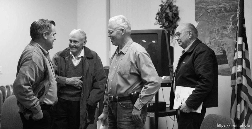 Terrill Johnson, Bygnal Dutson, Donald Richter, Floyd Black. Colorado City, City Council Meeting.