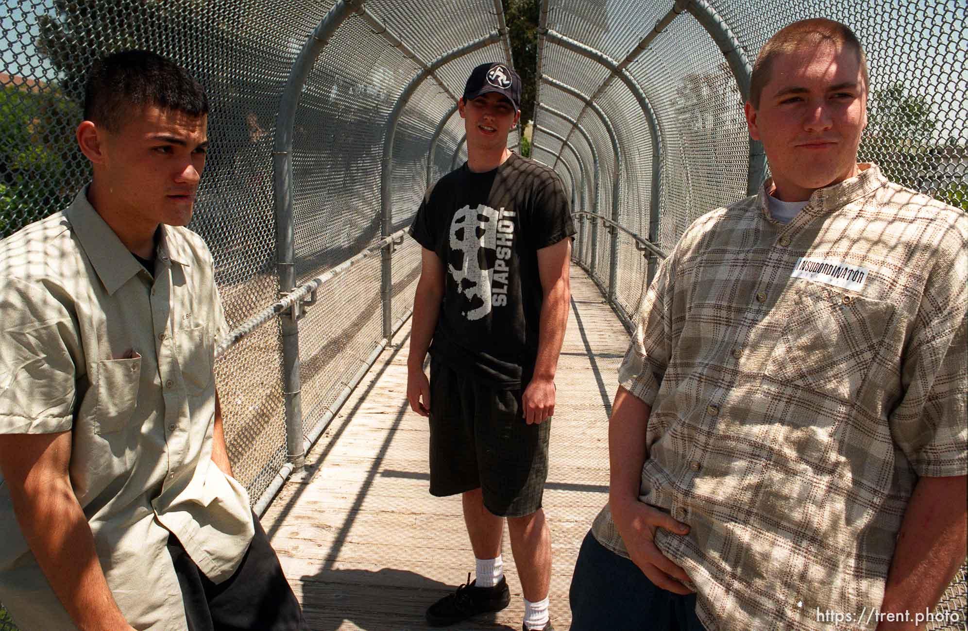 Colby Buzzell, Peter Hansen. Insubordinator staff shot.