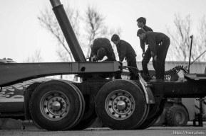 Trent Nelson | The Salt Lake Tribune man and boys working on truck, Thursday February 25, 2016.