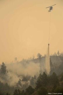(Trent Nelson | The Salt Lake Tribune) The Coal Hollow Fire burns along Highway 6 in Utah County, Friday Aug. 10, 2018.