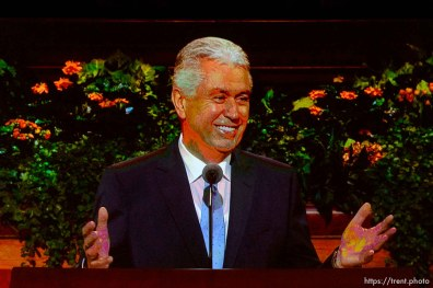 Trent Nelson | The Salt Lake Tribune Dieter F. Uchtdorf. The general women's session — the first event in LDS General Conference — will have speakers, choirs and a lot of people on Temple Square Saturday September 24, 2016.