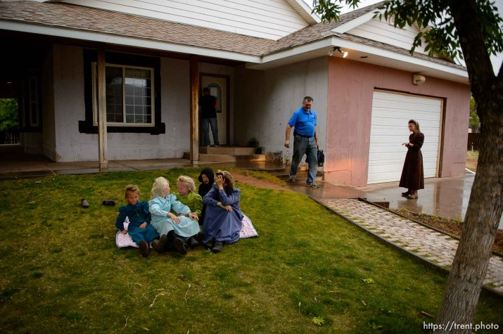 Trent Nelson   The Salt Lake Tribune FLDS women and children as they are evicted from their Colorado City, AZ, home, Tuesday May 9, 2017.