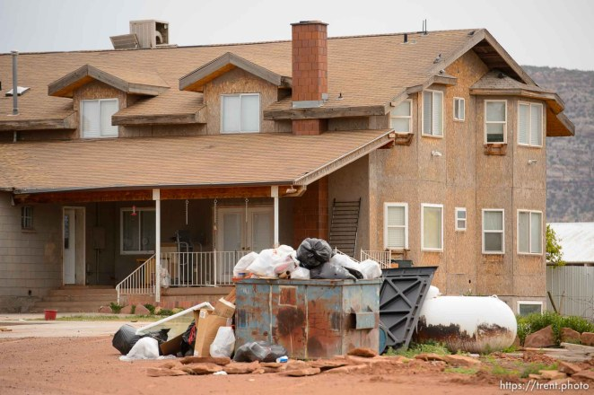 Trent Nelson | The Salt Lake Tribune UEP eviction of home in Colorado City, AZ, Tuesday May 9, 2017.