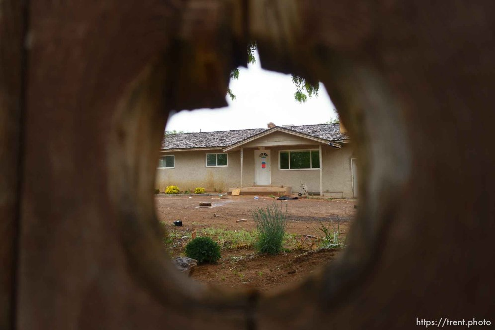 Trent Nelson   The Salt Lake Tribune The locks are changed on an empty home in Colorado City, AZ, Tuesday May 9, 2017, as part of the UEP Trust evictions.