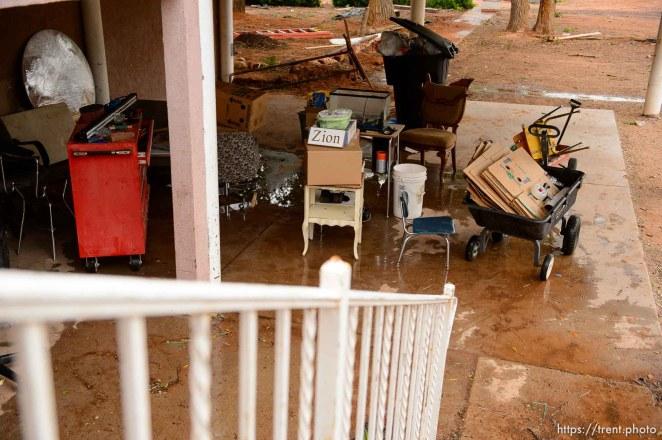 Trent Nelson   The Salt Lake Tribune UEP eviction of property at 555 N Lauritzen Ave, Colorado City, AZ, Wednesday May 10, 2017. belongings outside