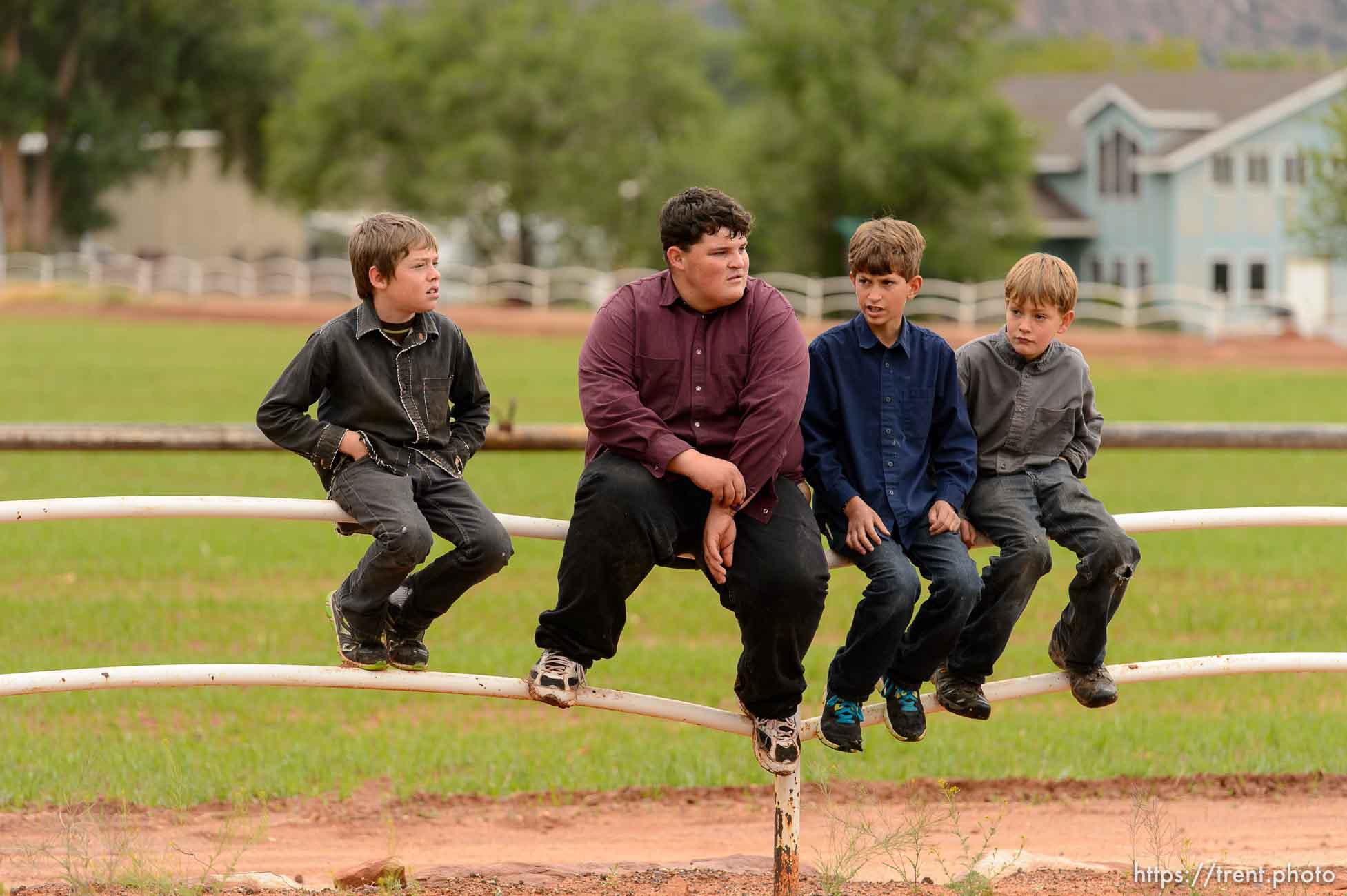 Trent Nelson   The Salt Lake Tribune UEP eviction of property at 555 N Lauritzen Ave, Colorado City, AZ, Wednesday May 10, 2017. Four FLDS boys.