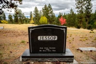 (Trent Nelson | The Salt Lake Tribune) Morris Yeates Jessop, Cemetery, Pinesdale, Saturday September 30, 2017.