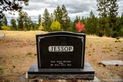 (Trent Nelson | The Salt Lake Tribune) Morris Yeates Jessop, Cemetery, Pinesdale, Saturday September 30, 2017.