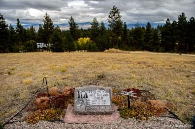 (Trent Nelson | The Salt Lake Tribune) Paul Roland Gold, Cemetery, Pinesdale, Saturday September 30, 2017.