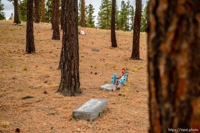 (Trent Nelson | The Salt Lake Tribune) Cemtery, Pinesdale, Saturday September 30, 2017.