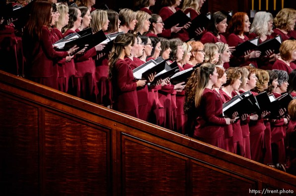 (Trent Nelson | The Salt Lake Tribune) The Tabernacle Choir at Temple Square during the afternoon session of the189th Annual General Conference of The Church of Jesus Christ of Latter-day Saints in Salt Lake City on Sunday April 7, 2019.