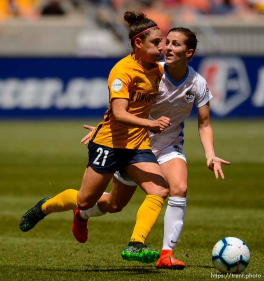 (Trent Nelson | The Salt Lake Tribune) Utah Royals FC's Veronica Boquete as Utah Royals FC hosts the Houston Dash at Rio Tinto Stadium in Sandy on Saturday May 11, 2019.