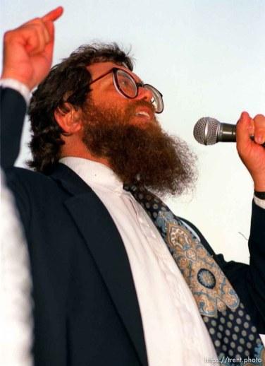Jewish man at the Pope's visit.