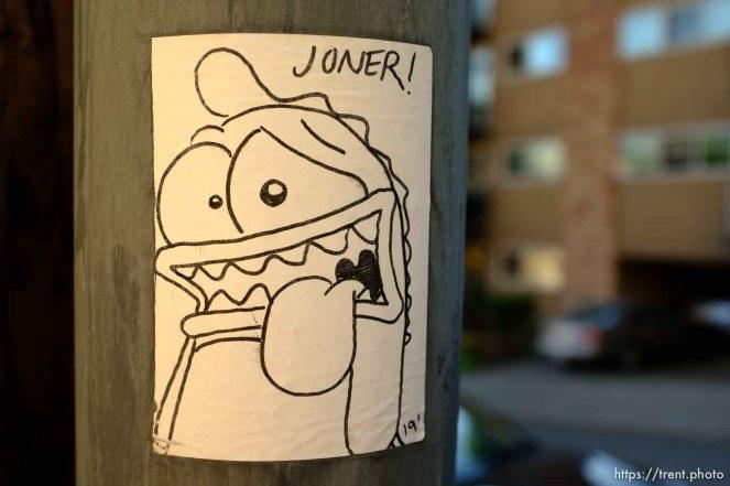 joner sticker, Sunday June 30, 2019.