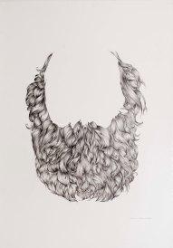 BARBA / 100X70 / Grafito sobre papel