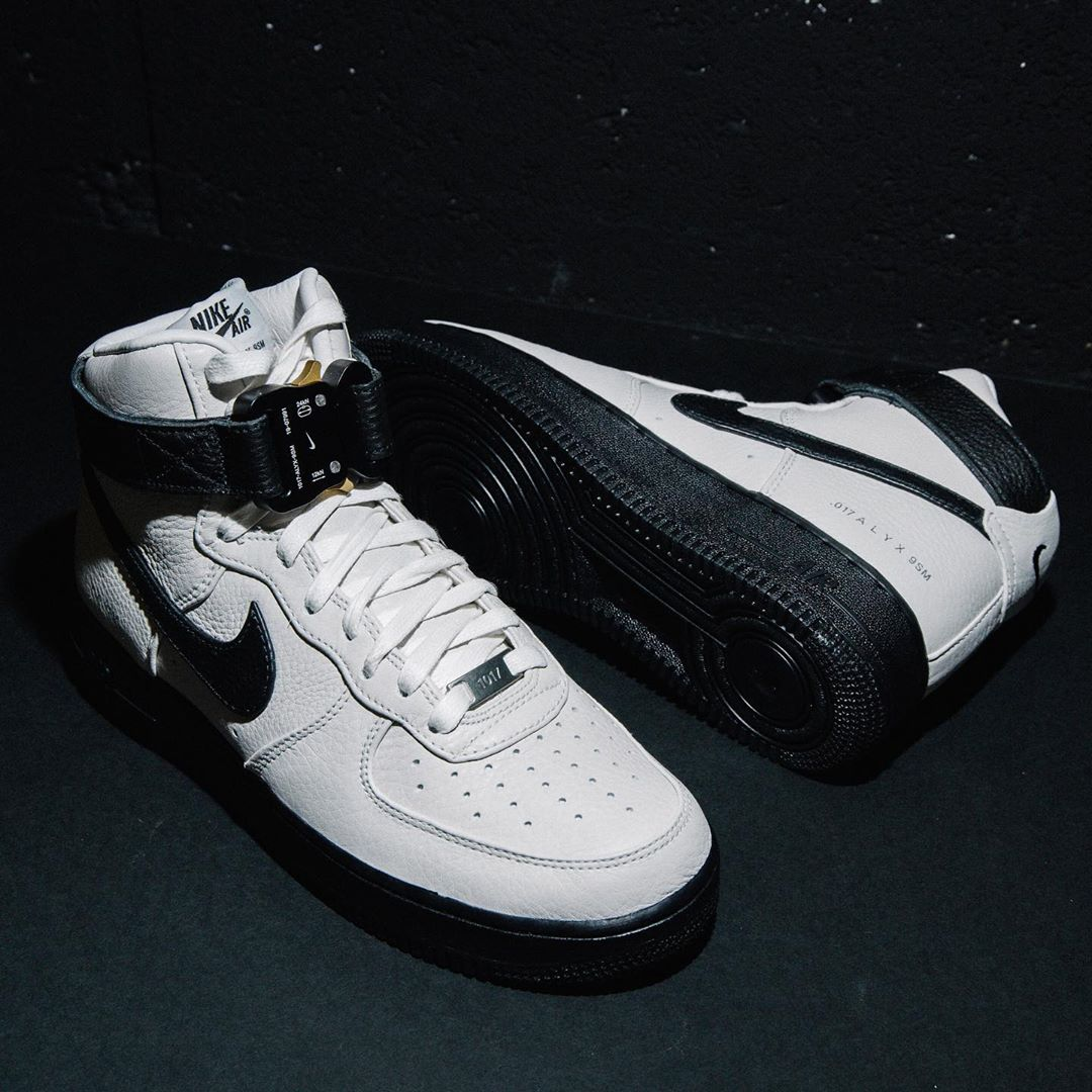 1017 Alyx 9SM x Nike Air Force 1 High White/Black