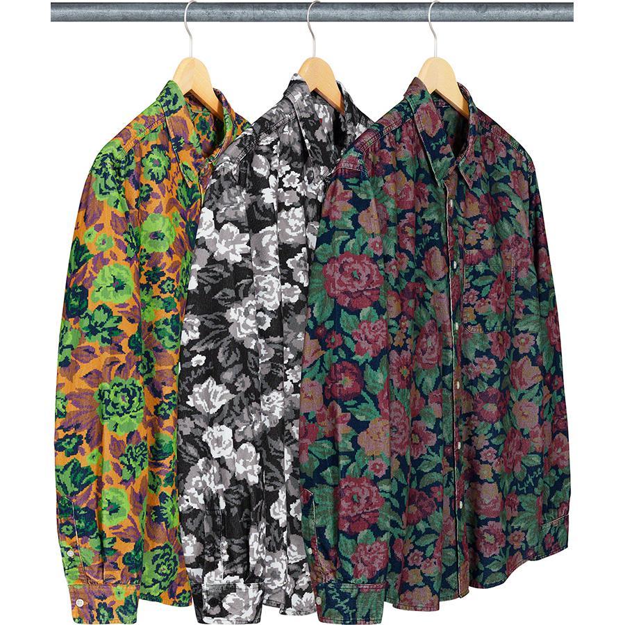 Supreme Digi Floral Corduroy Shirt