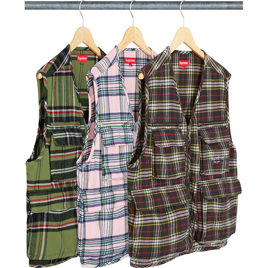 Supreme Tartan Cargo Vest