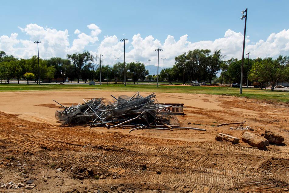 riverton city park baseball diamonds dismantled