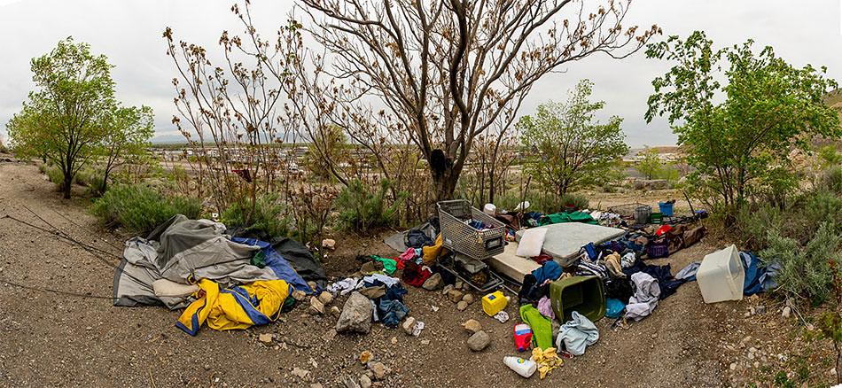 homeless camp, salt lake city
