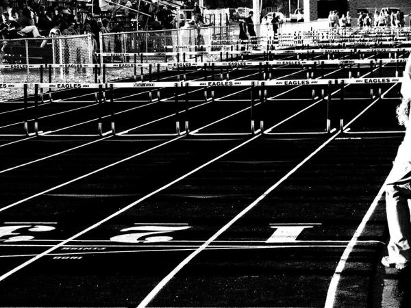 Black and White Hurdles