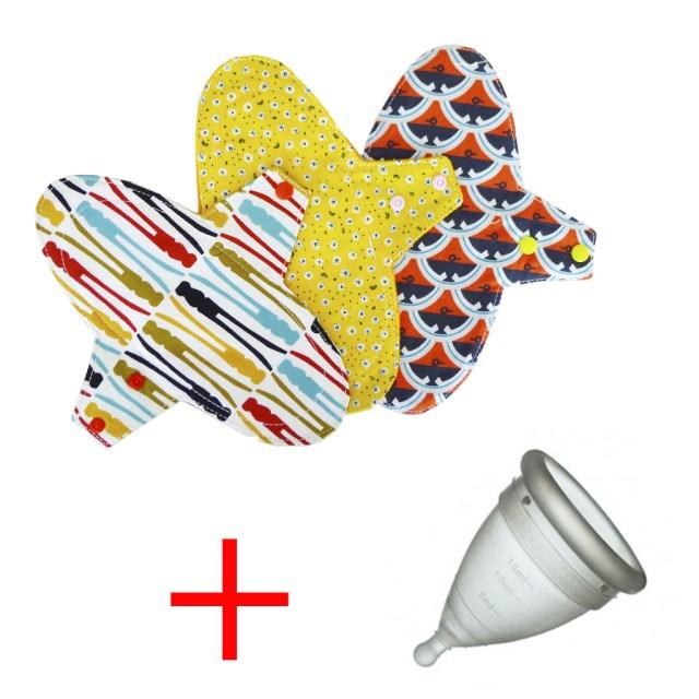 Copa menstrual y 3 compresas de tela - Tres Amapolas. Lo que ocurrió cuando empecé a usar compresas lavables
